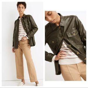 NWT Madewell Vegan Leather Chore Jacket